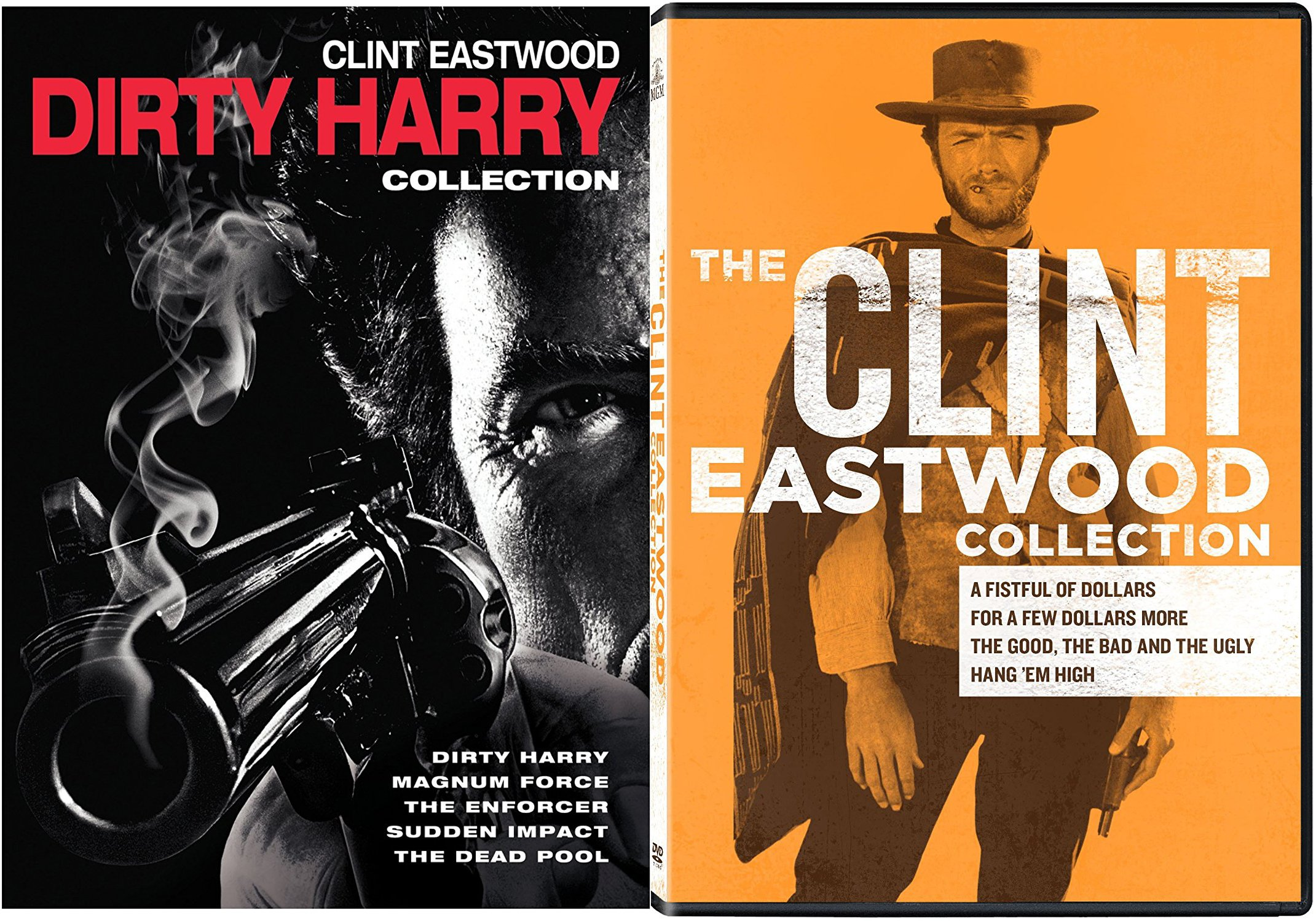 Clint Eastwood Collection Western The Man with no Name + The Dirty Harry Complete Series 9 Movie DVD Set by Warner Brothers Home