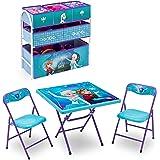 Disney Frozen Playroom Solution Set (Table & Chair Set + Metal Multi-Bin Toy Organizer)