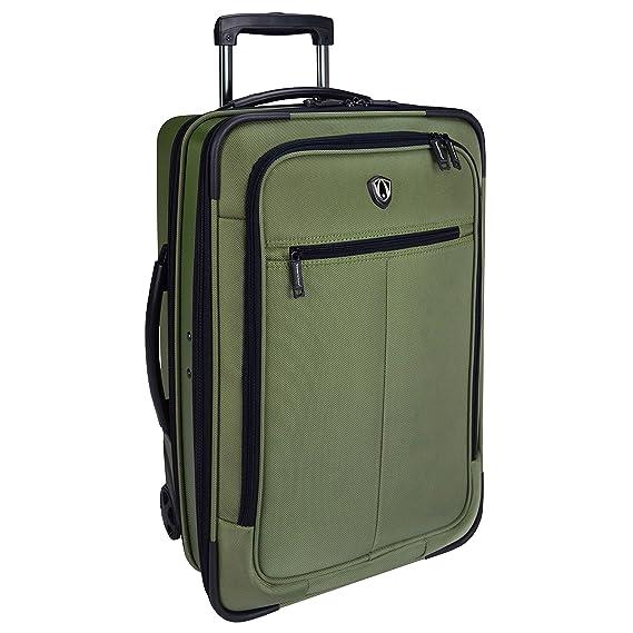 Traveler s Choice Sienna Hardside Softshell Hybrid Carry-On Rolling Garment  Bag - Green (21 f3c830e7319e7