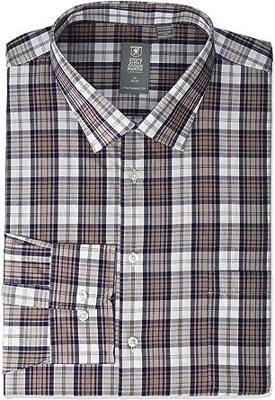 STACY ADAMS Mens Modern Fit Plaid Dress Shirt