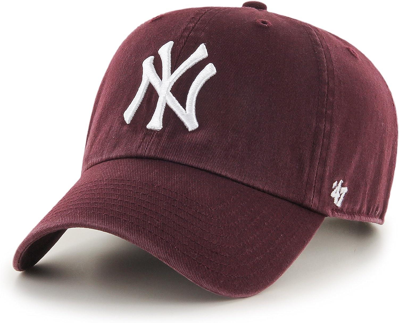 '47 Brand MLB New York Yankees Clean Up Cap - Maroon