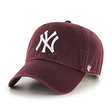 47 Brand Ny Yankees Mlb Clean Up Cap Einstellbar Rot Neu Baseball & Softball