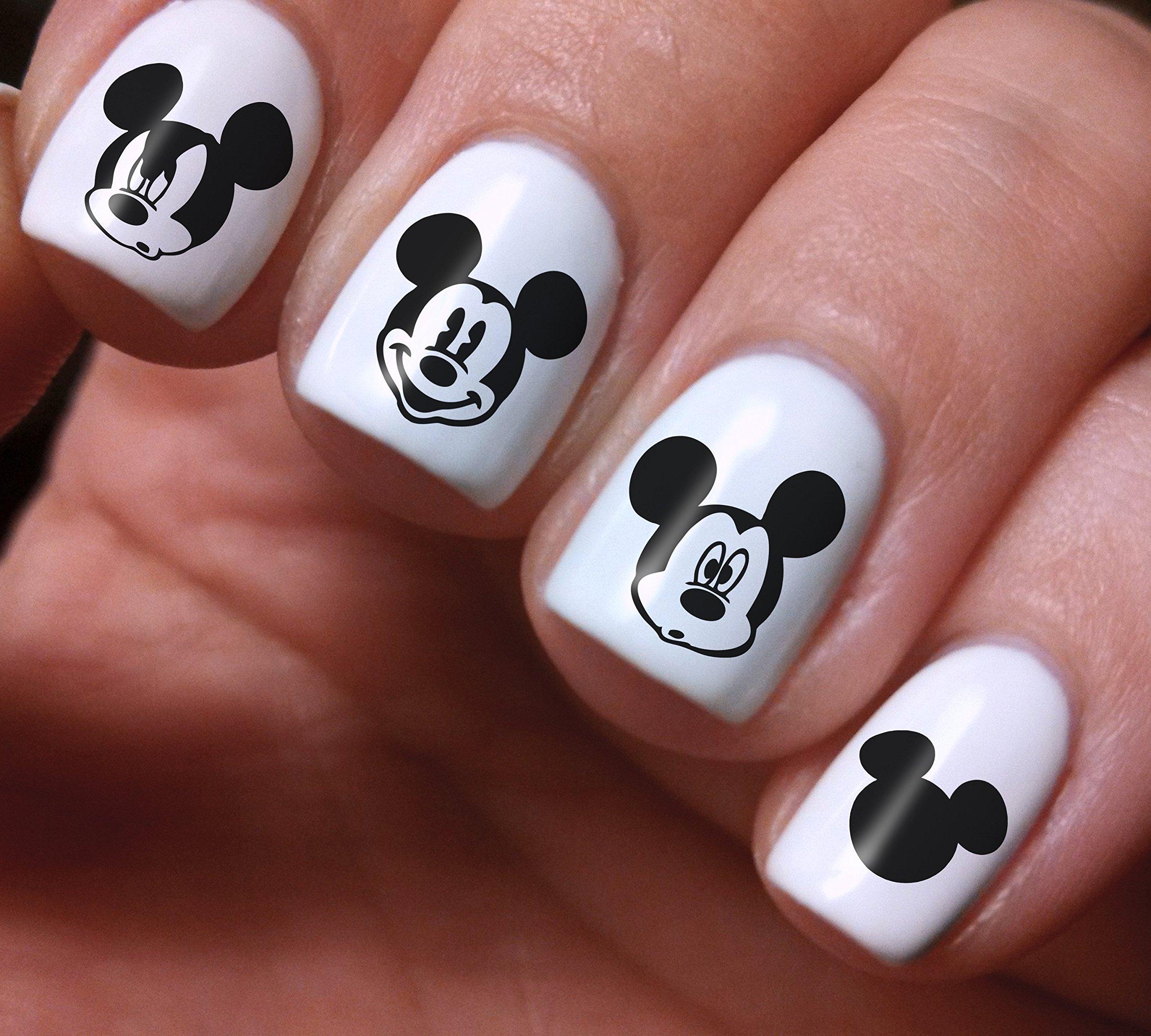 Amazon.com: Disney Mickey & Minnie Love Nail Decals (Set of 54 ...