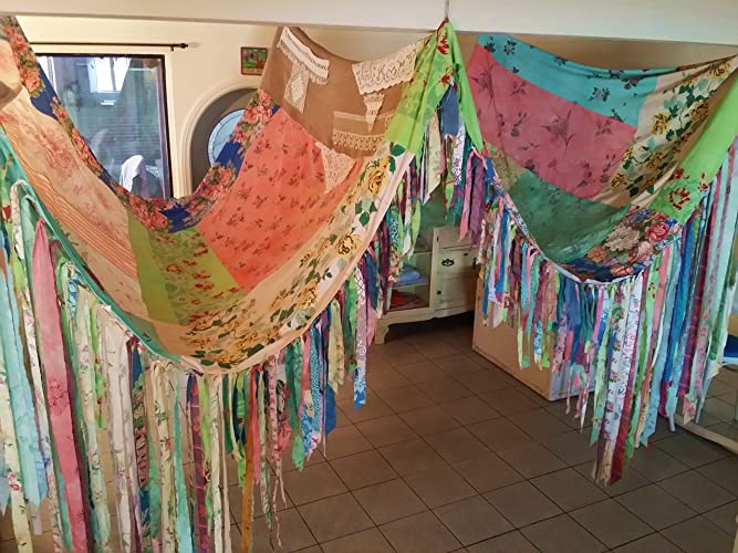 BOHO Tent Canopy teepee vintage textiles Gypsy hippie patchwork bed canopy Wedding curtain photo prop festival & Amazon.com: BOHO Tent Canopy teepee vintage textiles Gypsy hippie ...
