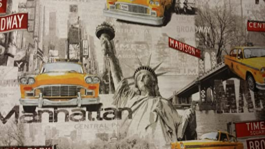 Amazon.com: Manhattan EE. UU. Nueva York, Taxi Amarillo/Cabs ...