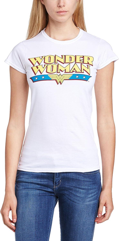 DC Comics Official Wonder Woman Logo Womens T-Shirt Maglietta Donna
