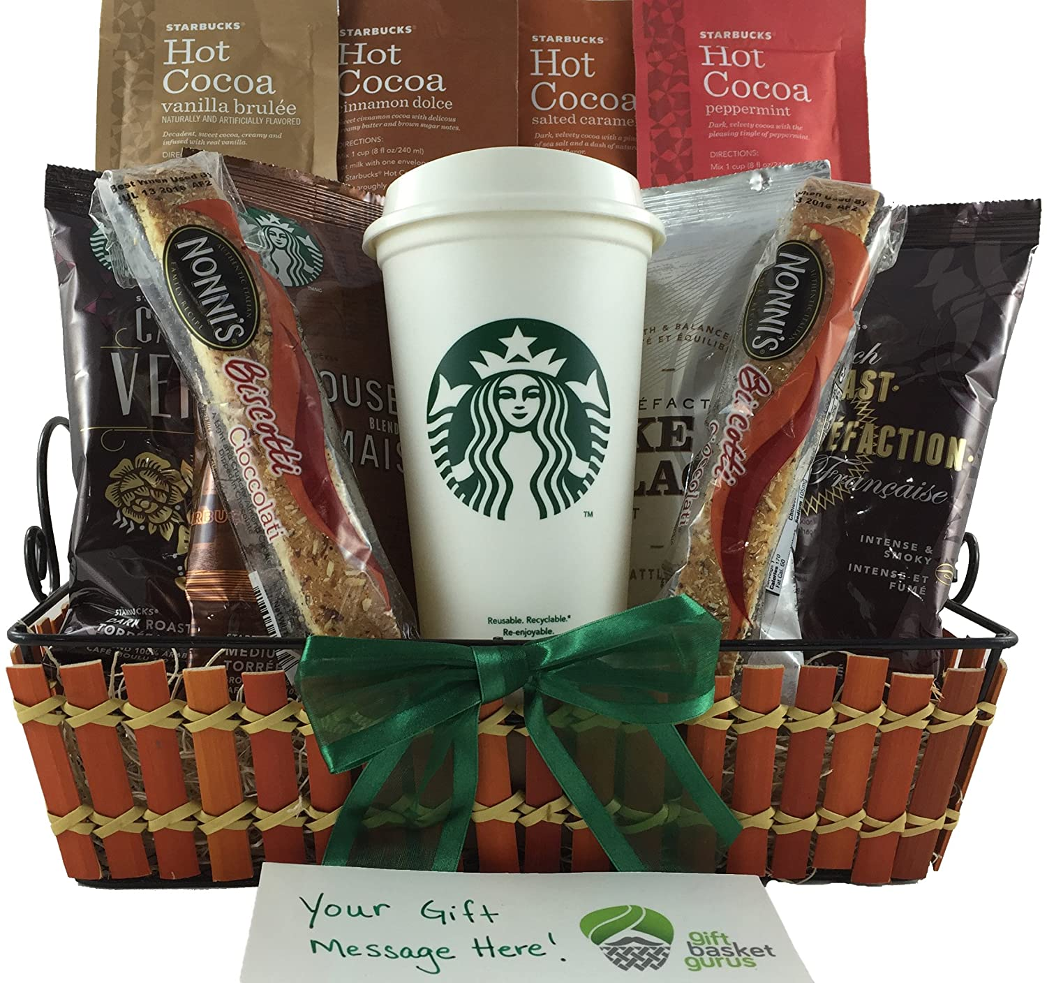 Amazon starbucks coffee and cocoa sampler gift basket amazon starbucks coffee and cocoa sampler gift basket grocery gourmet food negle Gallery