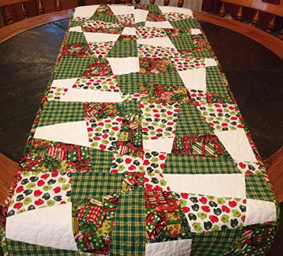 quilted christmas table runner winter table runner holiday table runner mittens fabric
