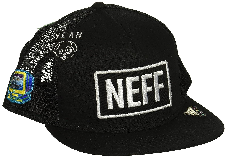 644ff3ed42c Neff Men Caps Trucker Cap Atoms Black Adjustable  Amazon.co.uk  Clothing