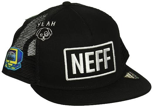 57ae6c395c5 Neff Men Caps Trucker Cap Atoms Black Adjustable  Amazon.co.uk  Clothing
