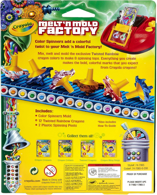 Melt n Mold Factory Kit-Spinnerz - Twisted Rainbow: Amazon.es: Hogar