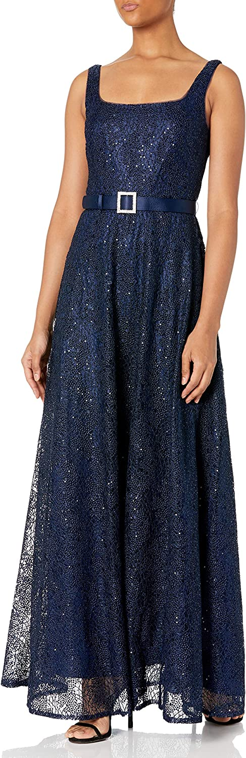 80s Dresses | Casual to Party Dresses Adrianna Papell Womens Dot Sequin Gown $183.79 AT vintagedancer.com