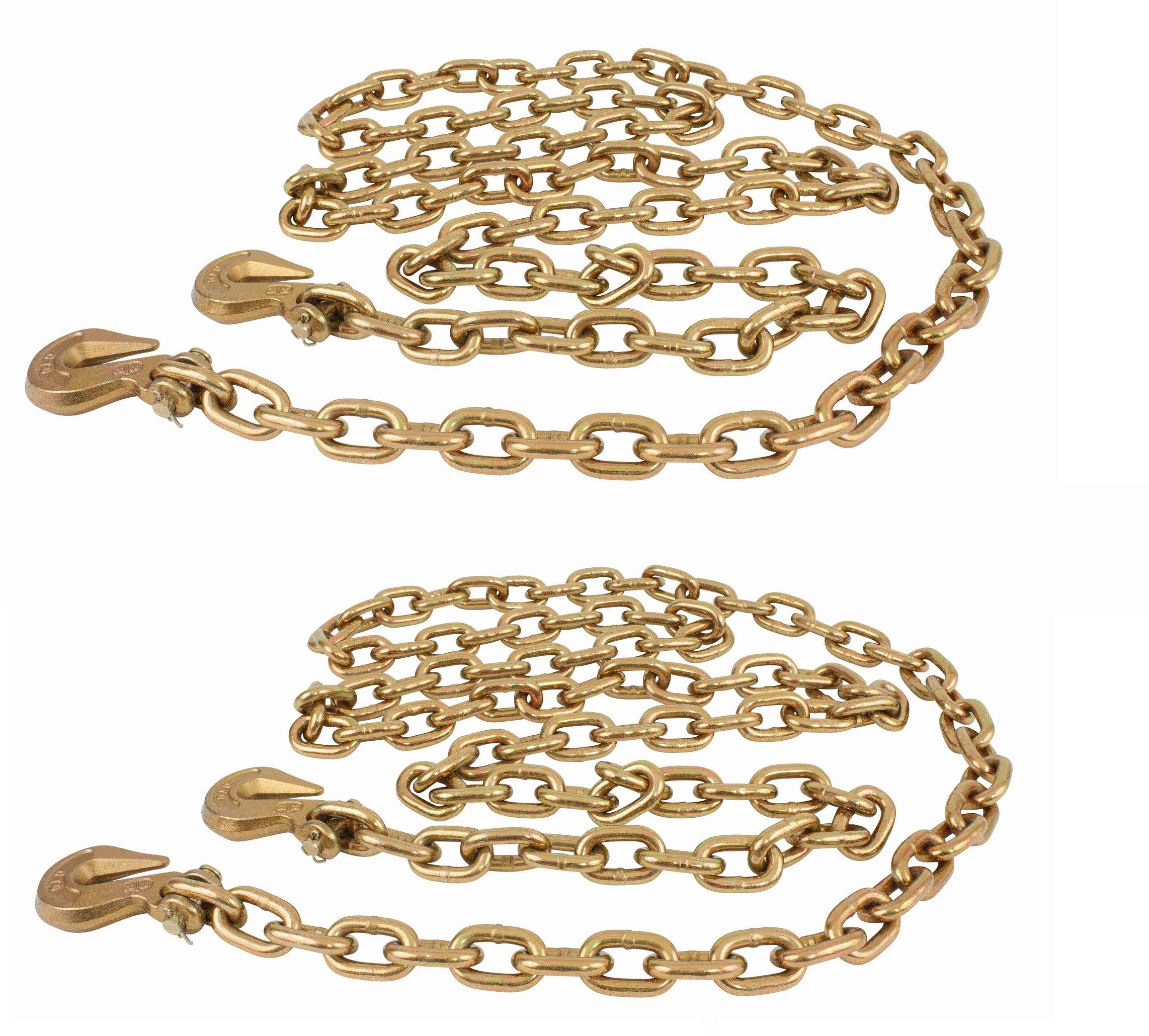 Mytee Products (2 Pack) G70 Binder Chain Grade 70 Truck 3/8 X 20 w/Grab Hooks