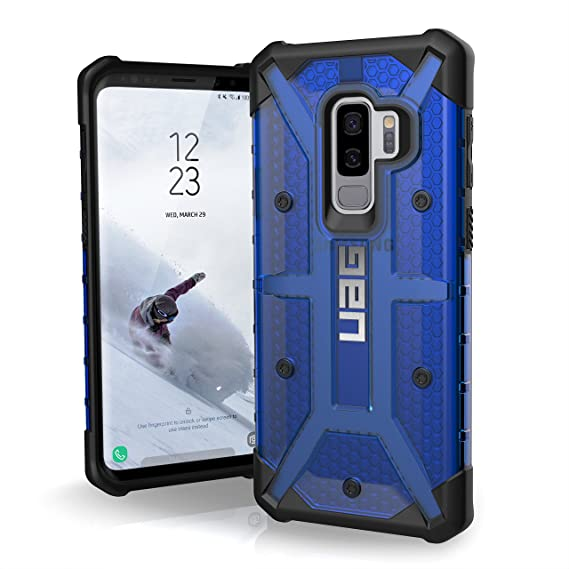 separation shoes 23666 e913f URBAN ARMOR GEAR UAG Designed for Samsung Galaxy S9 Plus [6.2-inch Screen]  Plasma Feather-Light Rugged [Cobalt] Military Drop Tested Phone Case