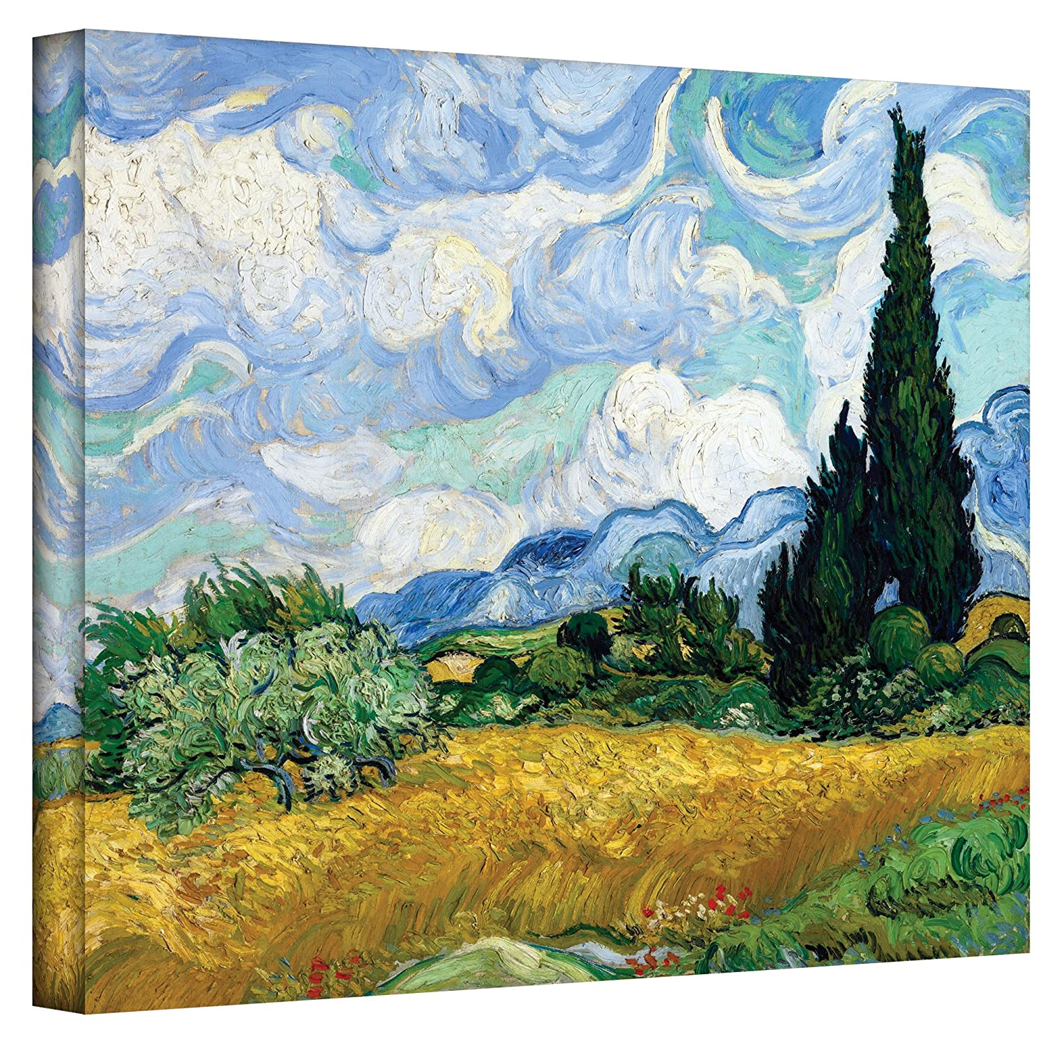 Amazon Art Wall Wheatfield With Cypresses By Vinan Gogh Gallery Wrapped Canvas 36 48 Inch Oil Paintings