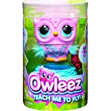 Owleez 6053359 Flying Baby Owl Interactive Toy with Lights and Sounds (Pink), for Kids Aged 6 and Up, Pink