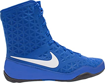 4e37cff874354 Amazon.com: Nike Men's KO Mid Boxing Shoes(Royal/White, 7 D(M) US ...