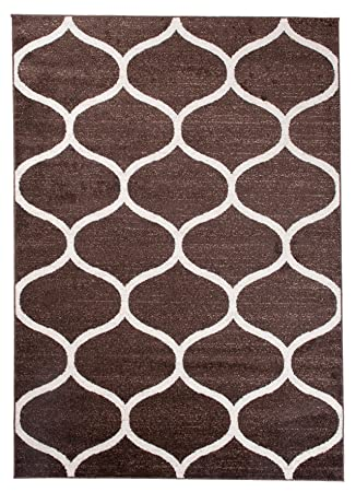 MAROKANISCHES Designer Teppich Für Ihre Wohnzimmer Schlafzimmer Esszimmer   Braun  Weiß   300 X 400 Cm