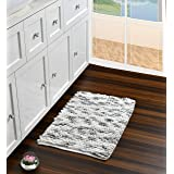 Luxurious Feel Bathroom Mat/Rug | Chenille & Cotton Bath Mat, Extra Absorbent & Super Soft Plush Rug for Living Room, Bedroom