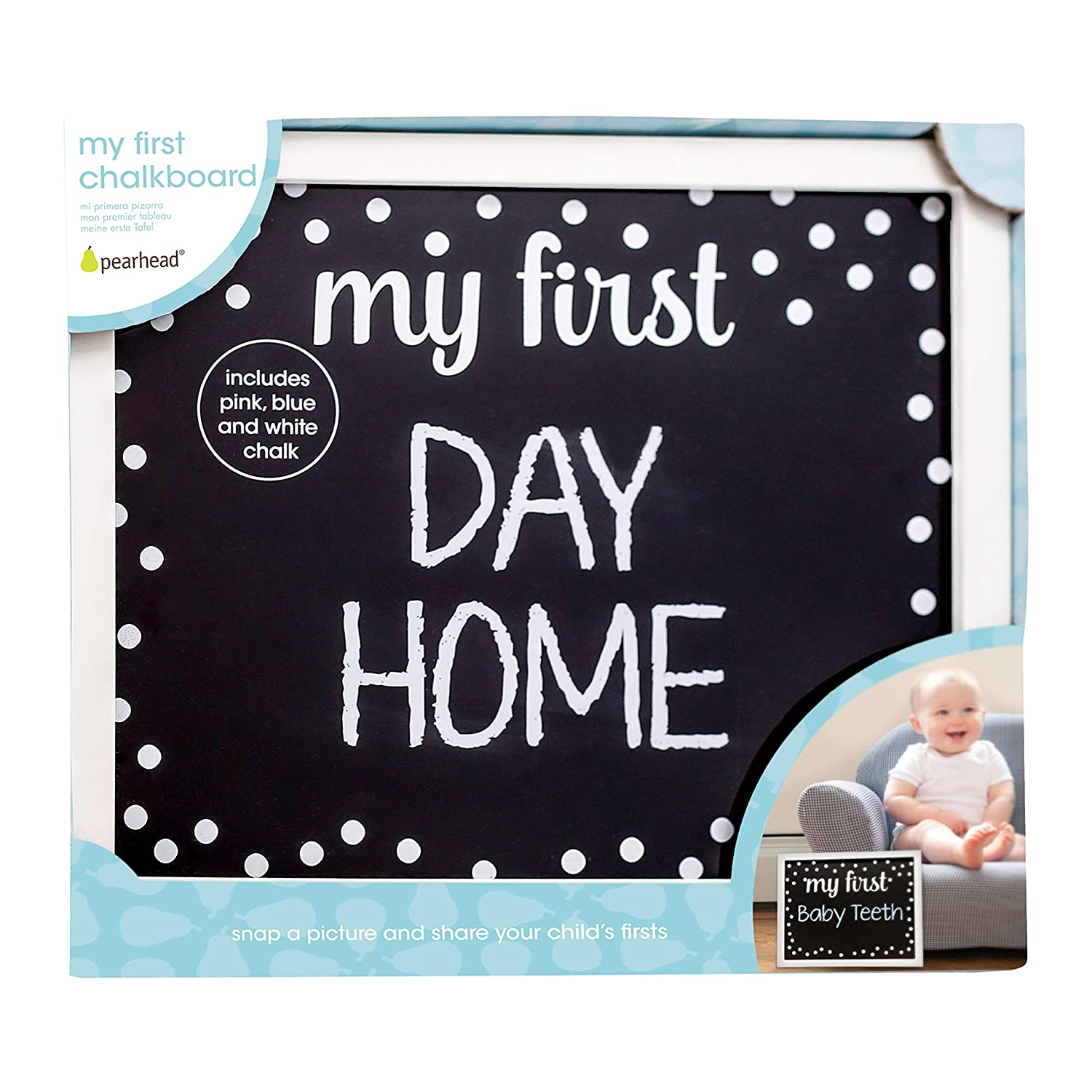 Pearhead My First Day Reusable Chalkboard Sign