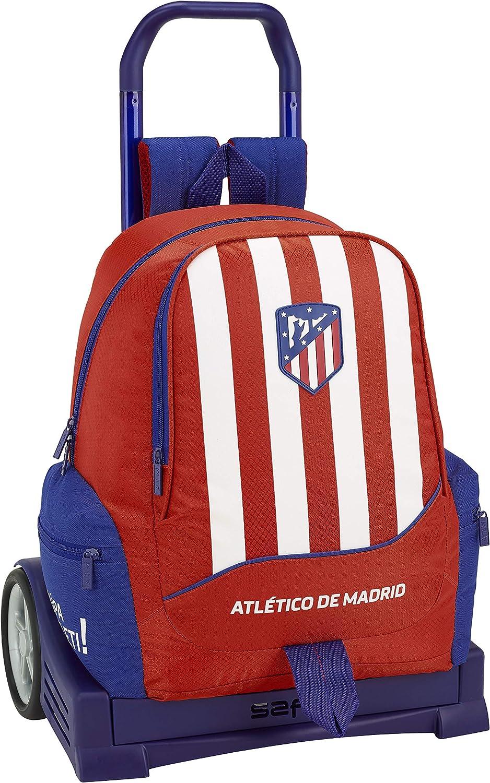 Club Atlético de Madrid Atlético de Madrid Mochila con Carro Ruedas Evolution, Trolley Equipaje para niños, Rojo, 44 cm: Amazon.es: Ropa y accesorios