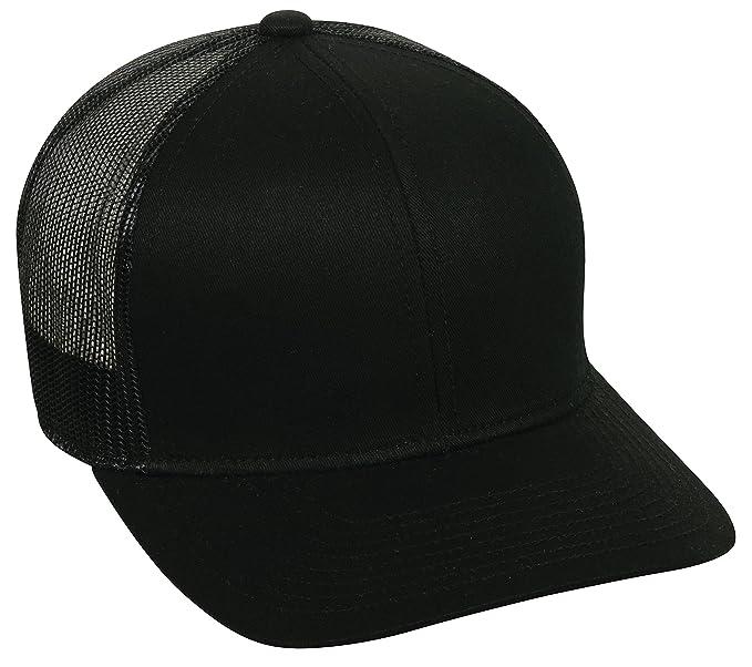 19085e320 Amazon.com: Outdoor Cap Structured mesh Back Trucker Cap, Black, One ...
