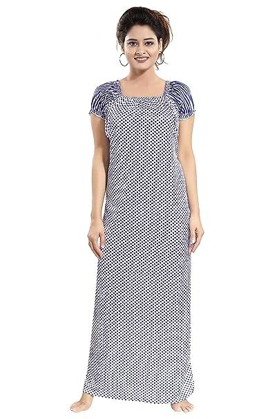 c4a88089e TUCUTE Women Girls Beautiful Dott s Printed Nighty Night Gown Night Dress  Nightwear