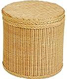 quadratische w schebox aus rattan honig versandkostenfrei in de k che haushalt. Black Bedroom Furniture Sets. Home Design Ideas