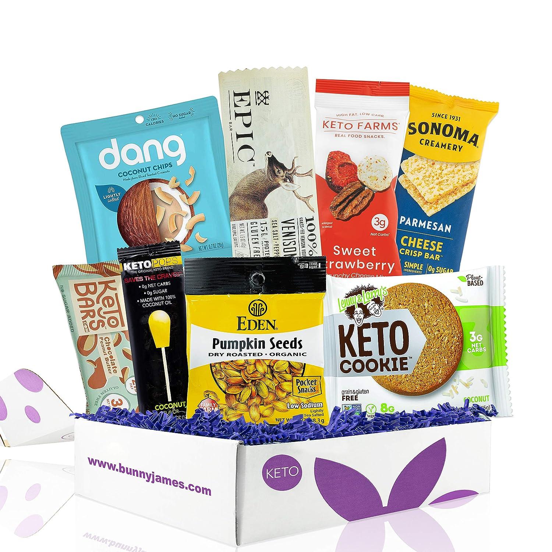 KETO Diet Snacks Starter Box: Assortment of Ketogenic Friendly Snacks - 4G of Net Carbs or Less - Great Keto Gift Baskets For Men and Women