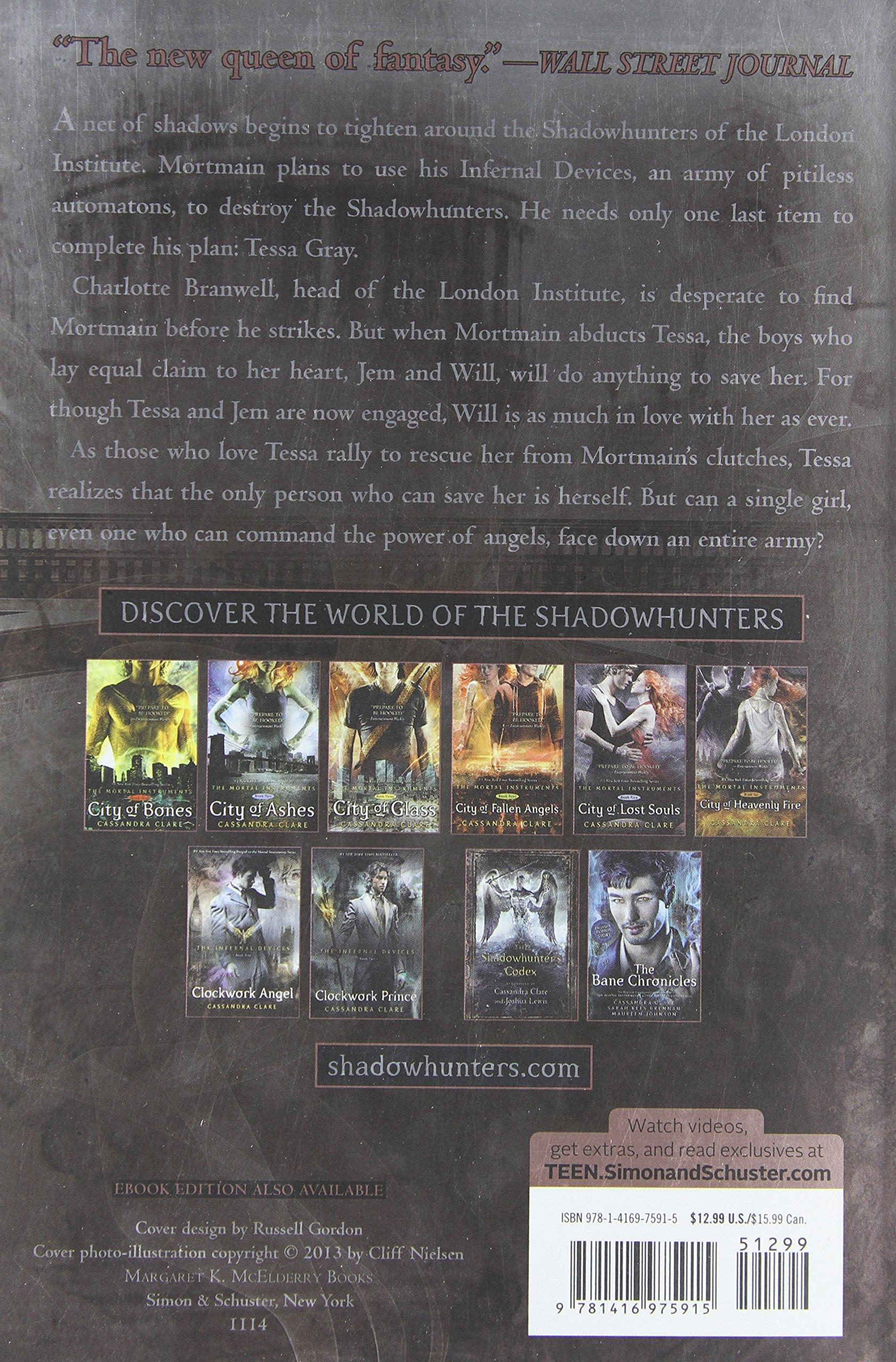 Amazon: Clockwork Princess (the Infernal Devices) (9781416975915):  Cassandra Clare: Books