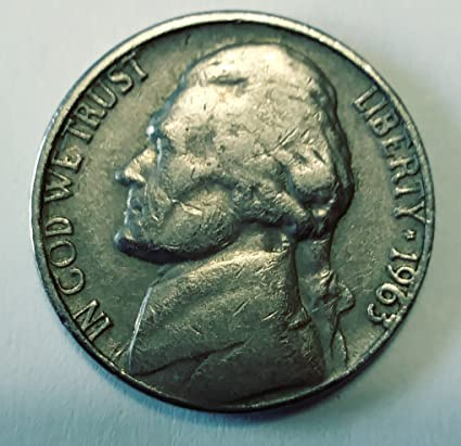 Amazon com: 1963-D Jefferson Nickel - Circulated: Toys & Games