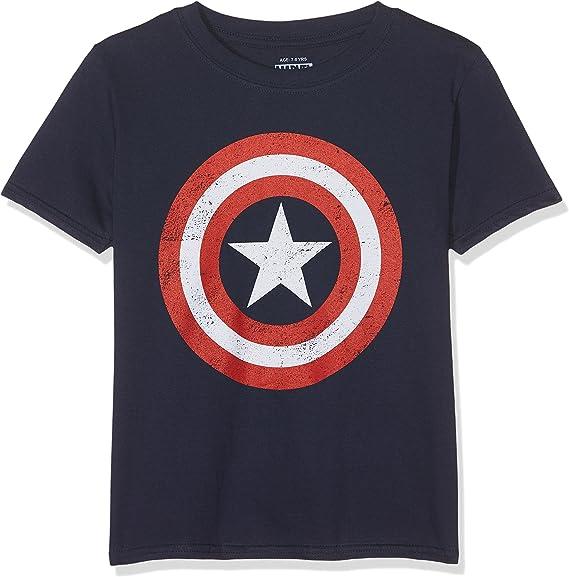 Marvel Captain America Torn T-Shirt Bambino