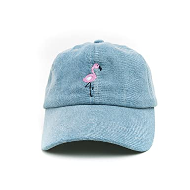 1e3decc0f7d Image Unavailable. Image not available for. Color  Flamingo Baseball Cap  Embroidered ...