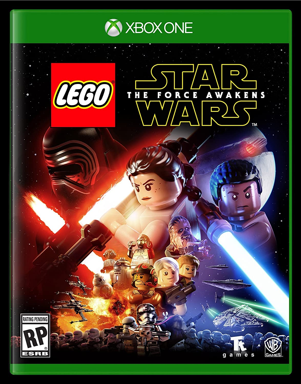 amazon com lego star wars the force awakens xbox one whv games