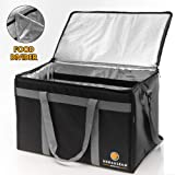 Herculean Insulated Food Delivery Bag - Hot and Cold Thermal XXL Commercial Catering Bag - Durable and Waterproof…