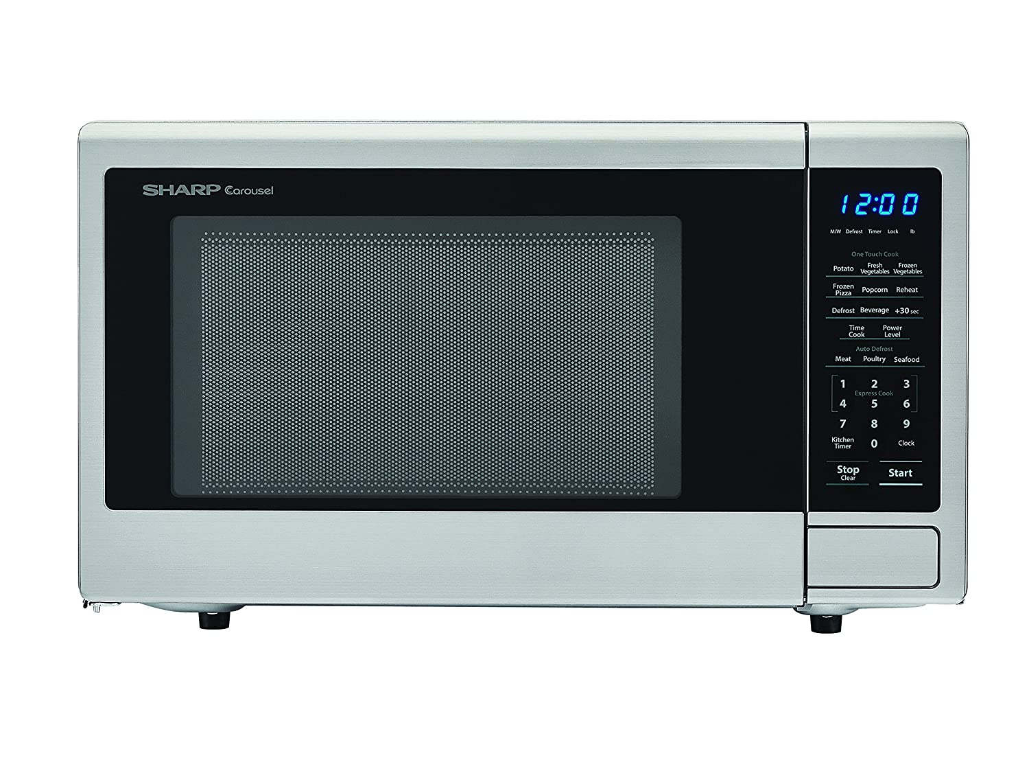 Sharp Microwaves ZSMC1132CS Sharp 1,000W Countertop Microwave Oven, 1.1 Cubic Foot, Stainless Steel