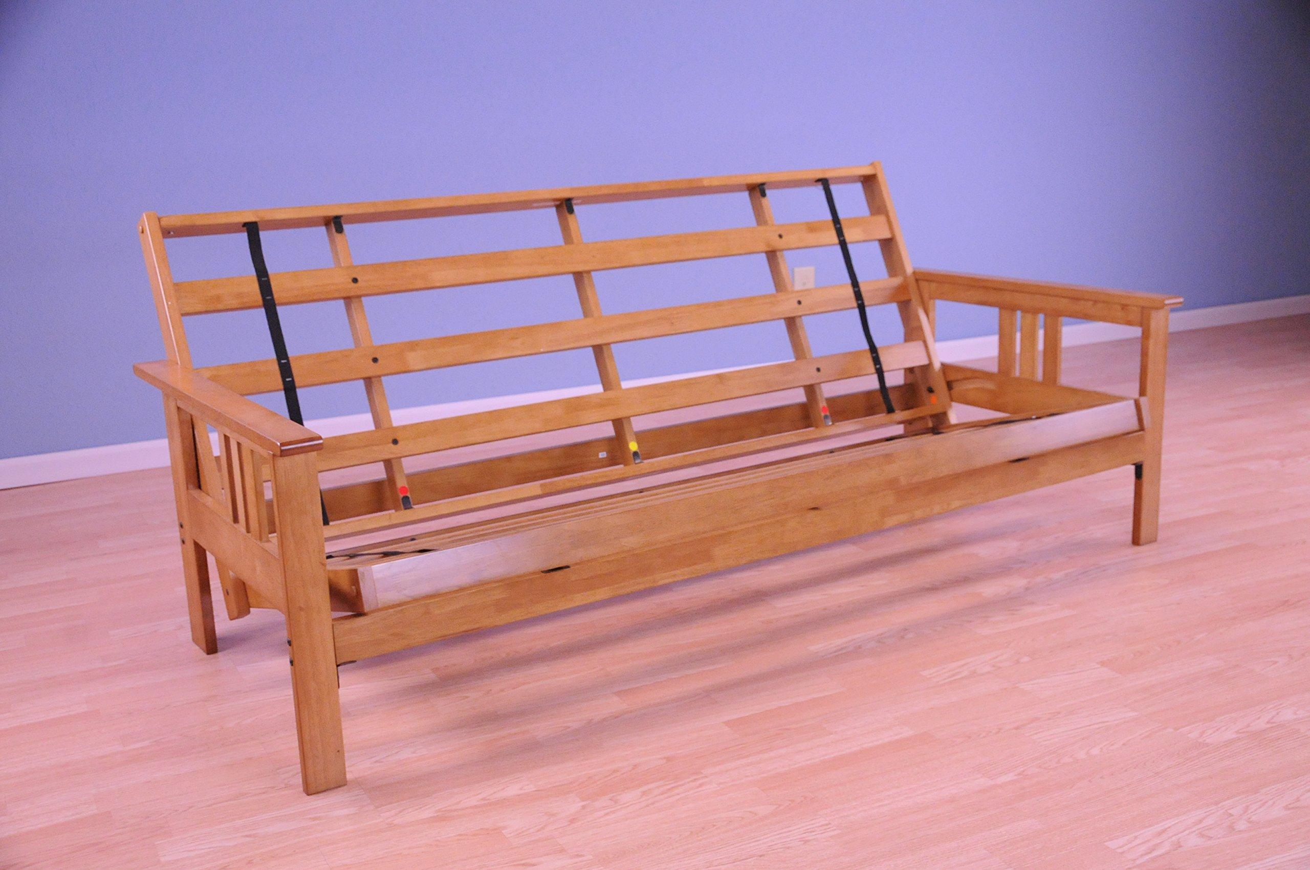Kodiak Furniture KFMOBTFRAMESET2 Monterey Futon Frame with Butternut Finish, Full, by Kodiak Furniture