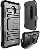 MOTO G (3rd. Gen.) case, E LV MOTO G3 (3rd. Gen.) (2015) (SHOCK PROOF DEFENDER) Shell Holster Full protection from drops and impacts for MOTO G3 / MOTO G (3rd. Gen.) (2015) - BLACK