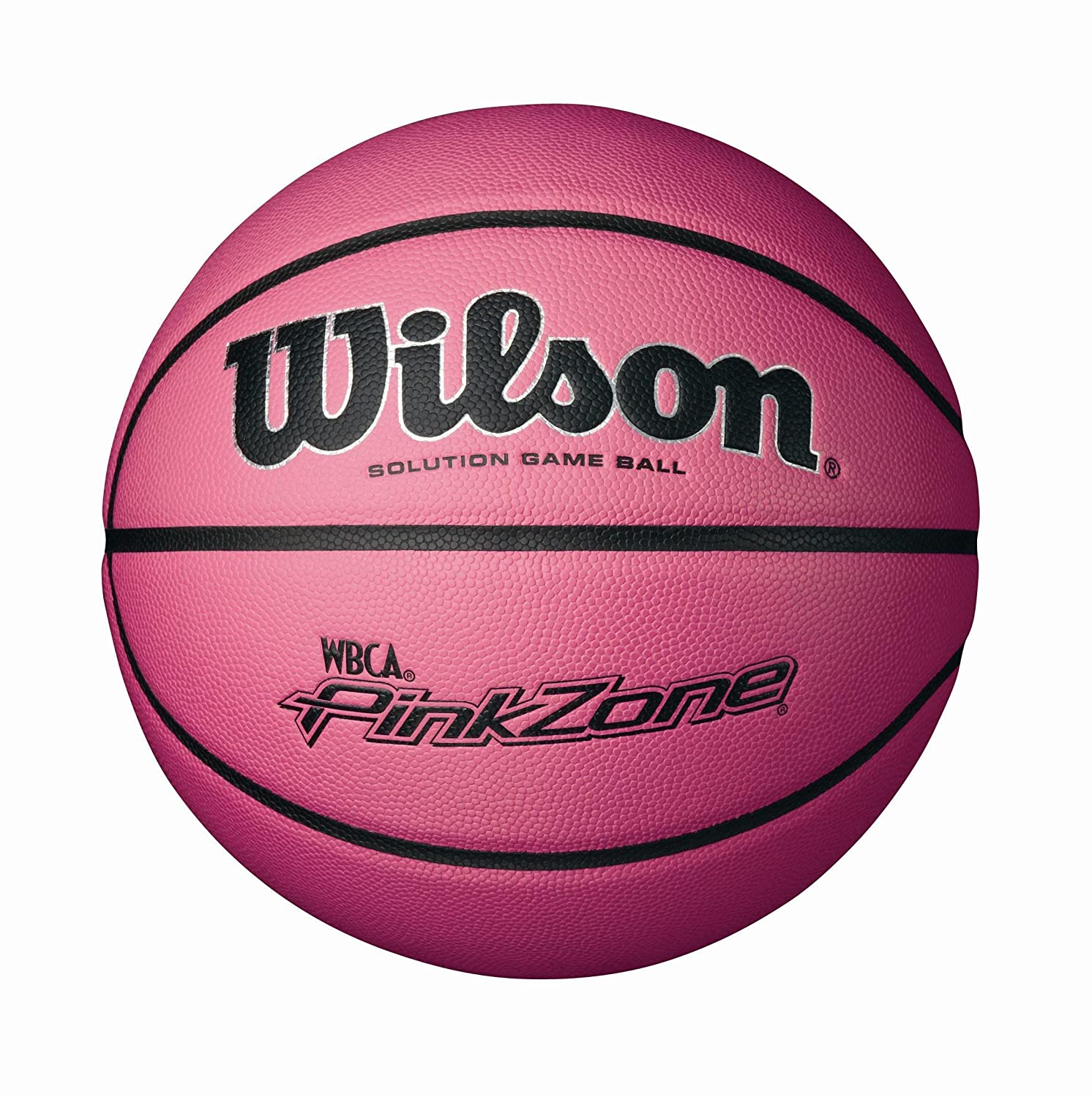 Wilson NCAA WBCA Pink Zone Solution Game Basketball 28.5-Inch