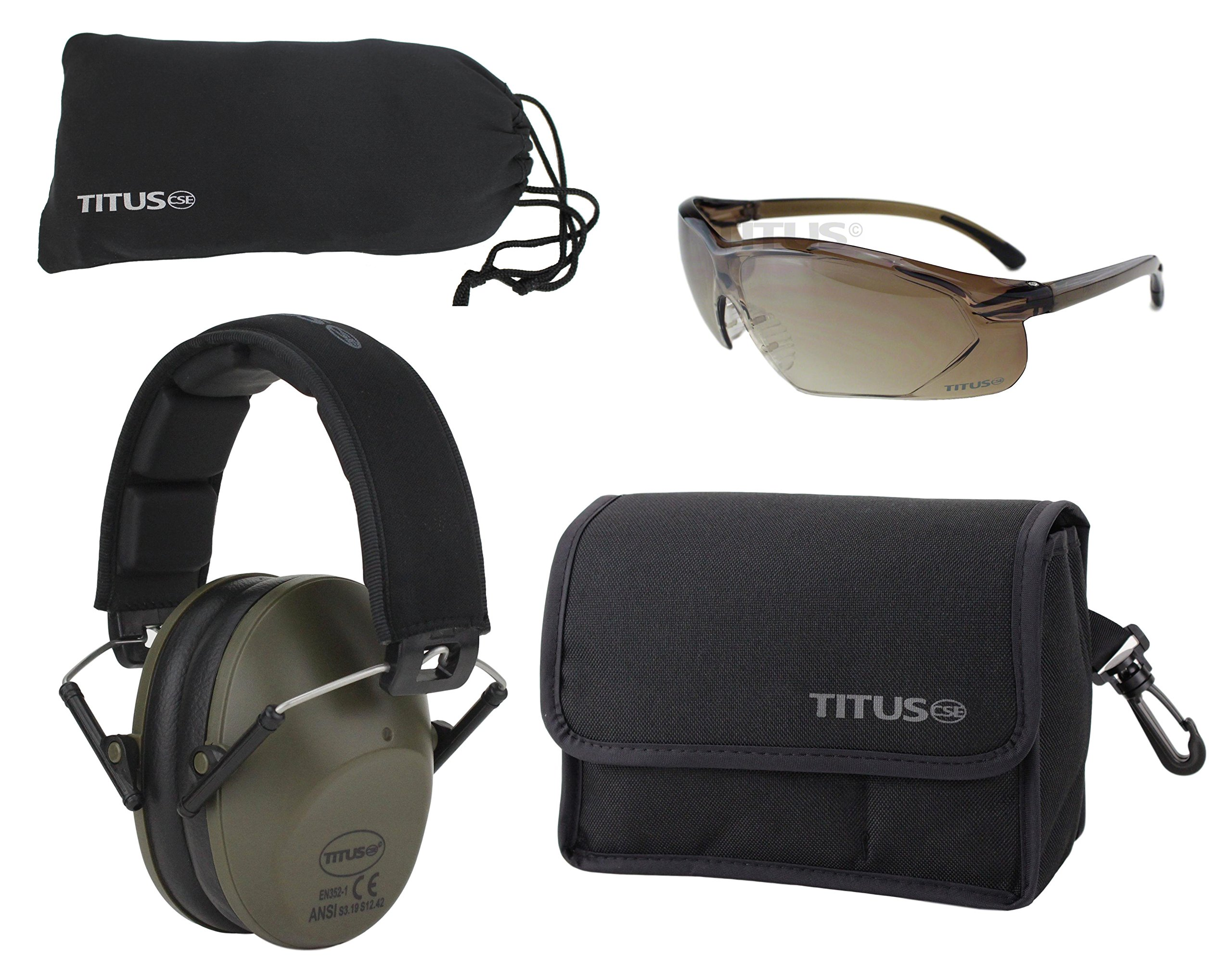M2 Earmuff/Glasses Combo Kits (G34 Gradient Bronze- Sports Glasses)