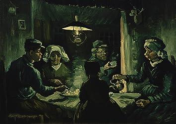 Vincent Van Gogh: los comedores de patatas. Impresión de la bella ...
