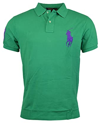 Polo Ralph Lauren - Hombre Custom Fit Big Pony - Malla Polo ...
