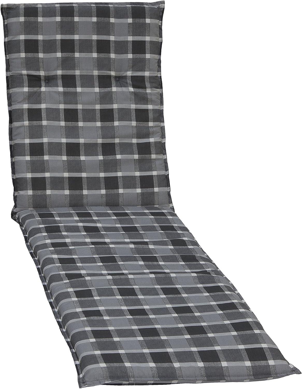 Luxus Auflagen für Hochlehner Niederlehner Relaxliegen und Liegen grau schwarz