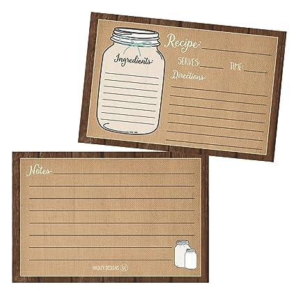 photograph regarding Free Printable Recipe Cards for Bridal Shower identify Preset of 50) Recipe Playing cards, 4x6 Recipe Playing cards, Blank Recipe