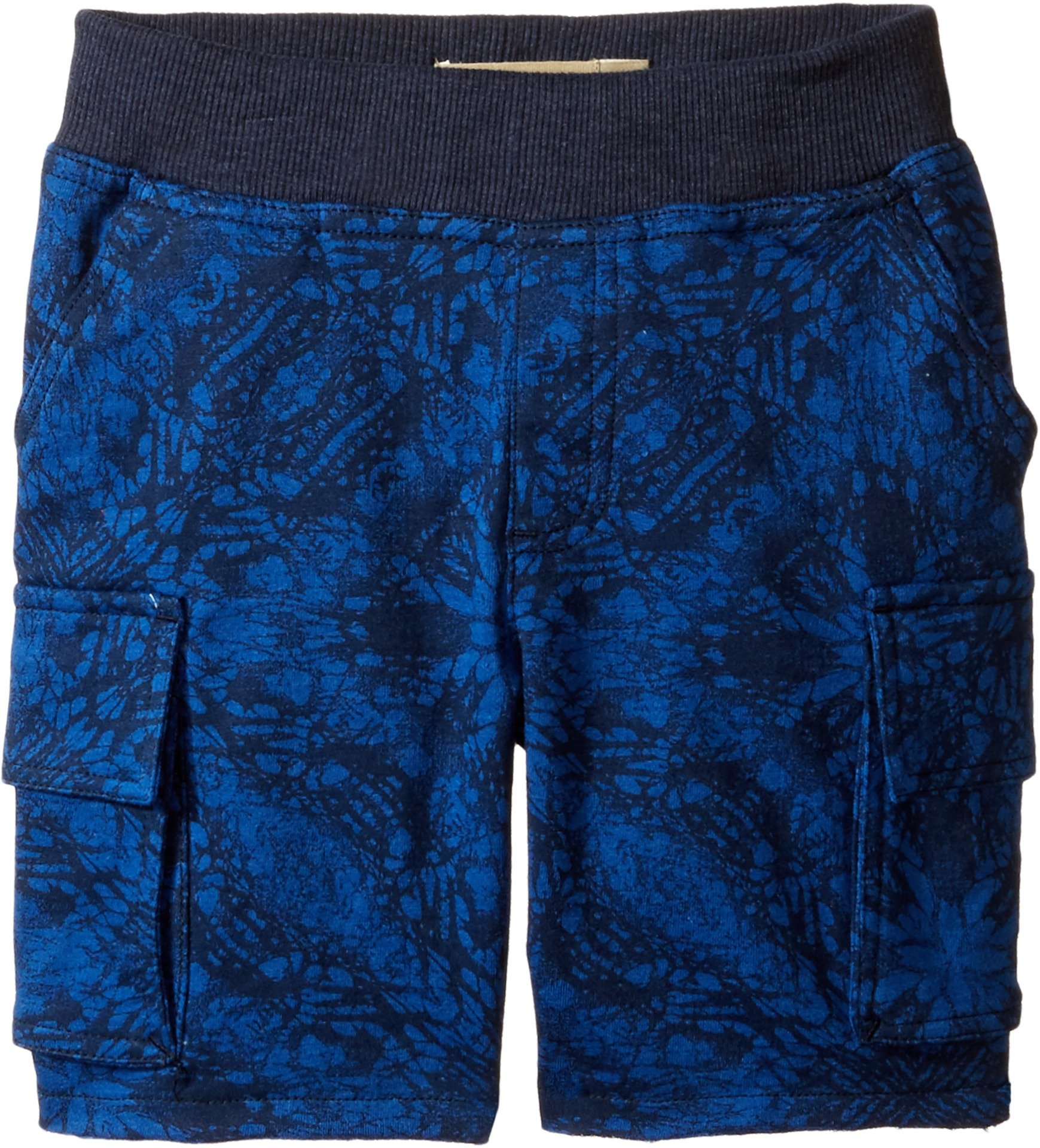 Lucky Brand Kids Baby Boy's Swell Cargo Shorts in French Terry (Toddler) Black Iris Shorts