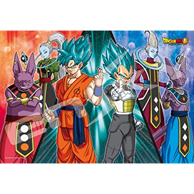108-piece jigsaw puzzle Dragon Ball battle large piece multiplied by the super-universe (26x38cm): Juguetes y juegos