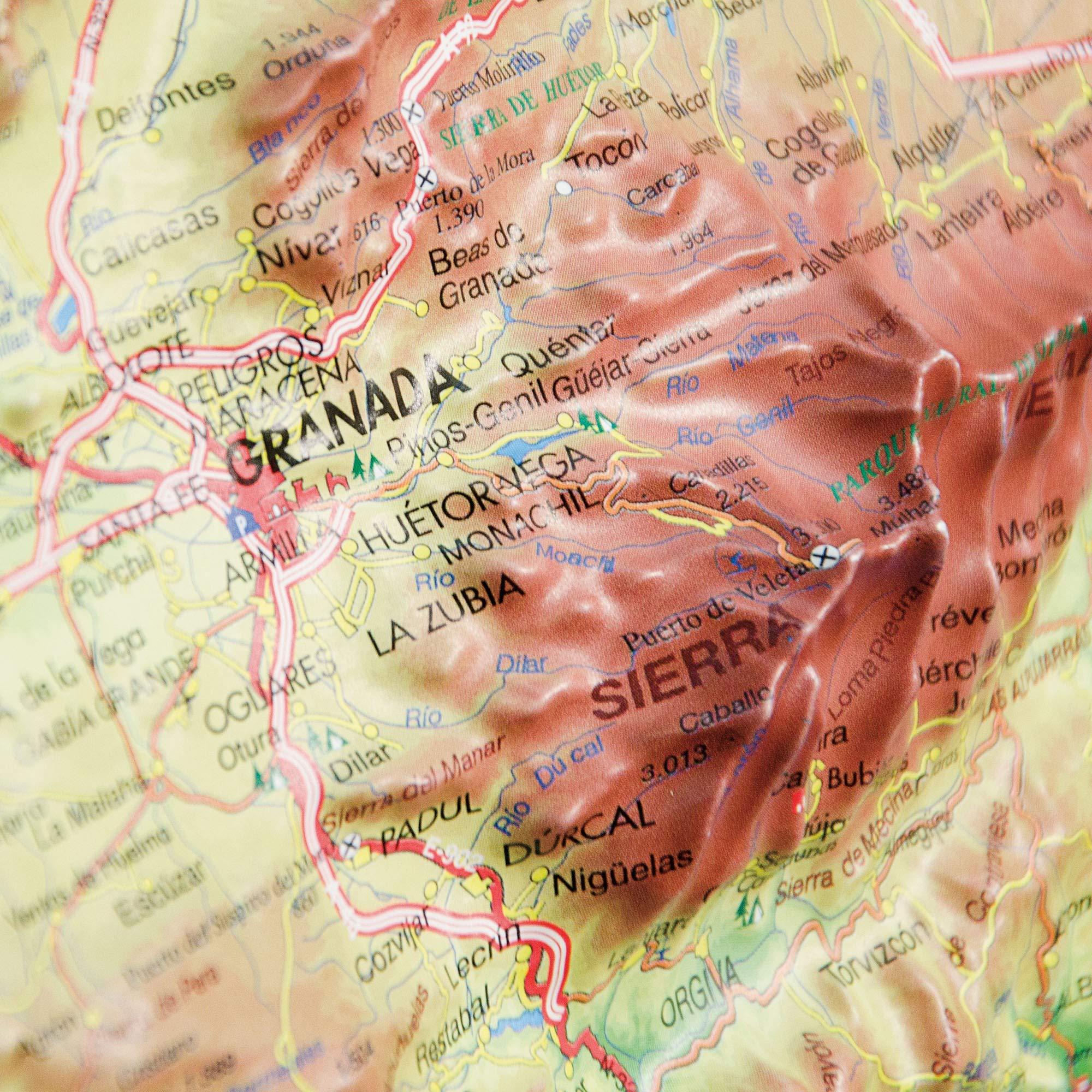 Mapa en relieve de Granada: Escala 1:700.000: Amazon.es: All 3D Form, S.L.: Libros