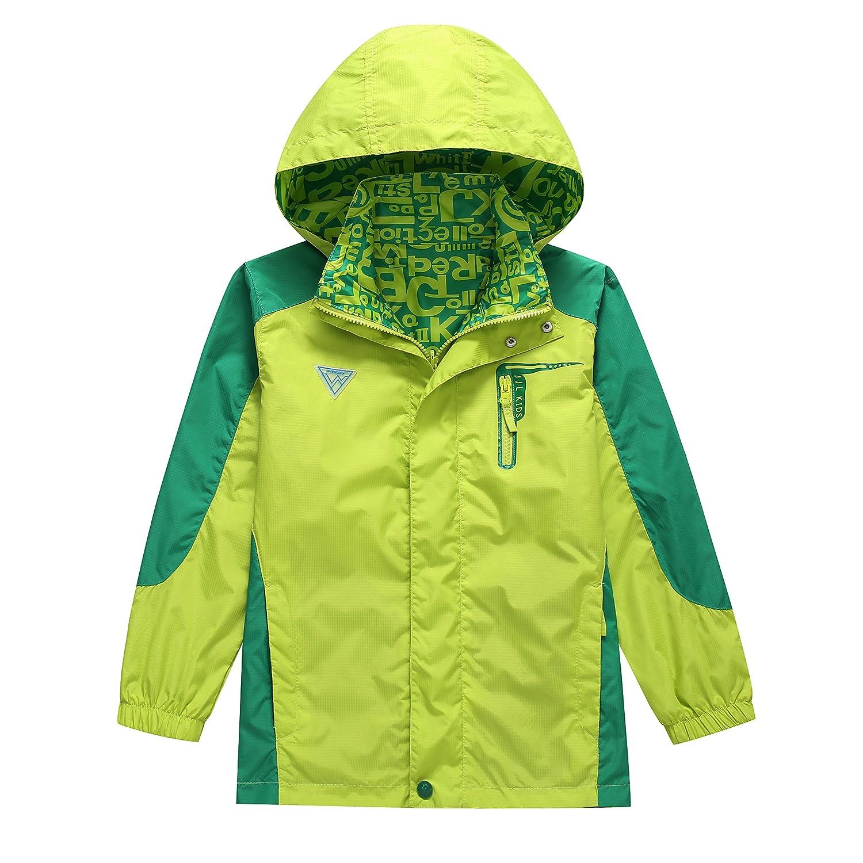 ed6bc2768 KID1234 Boys  Lightweight Rain Jacket Quick Dry Waterproof h Hooded ...
