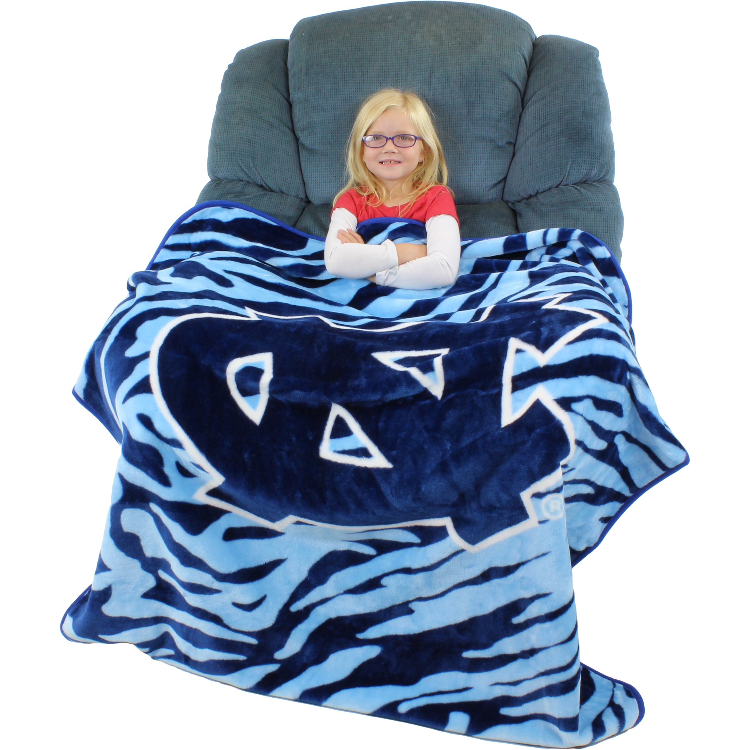 College Covers Raschel Throw Blanket, 50'' x 60'', North Carolina Tar Heels by College Covers