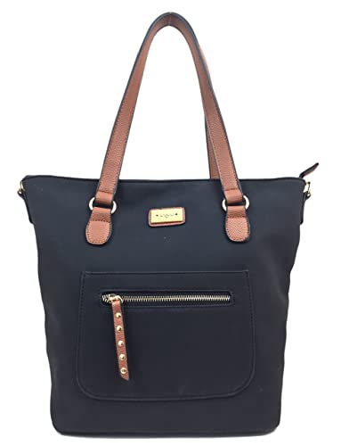 b91756146159 AMY Beautiful Italian Styled Ladies Tote Bag with Detachable Adjustable  Shoulder Bag Strap. (Black